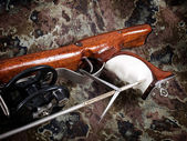 Wooden spear gun — Stock Photo