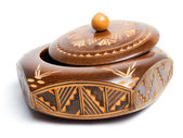 Carved wooden box — Stock Photo