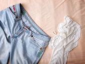 Clothes mess — Stock Photo