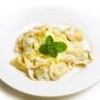 Pasta with cheese — Stock Photo