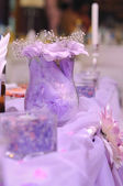 Violet decoration on wedding — Stock Photo