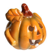 Candlestick a pumpkin. — Stock Photo