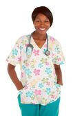 Smiling African American Nurse Posing — Stock Photo
