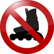 No rollerbladading sign — Image vectorielle