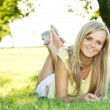 Young woman in the park — Stock Photo #6813495