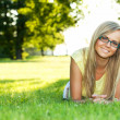 Young woman in the park — Stock Photo #6813496
