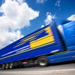 Fast moving truck — Stock Photo #6814219
