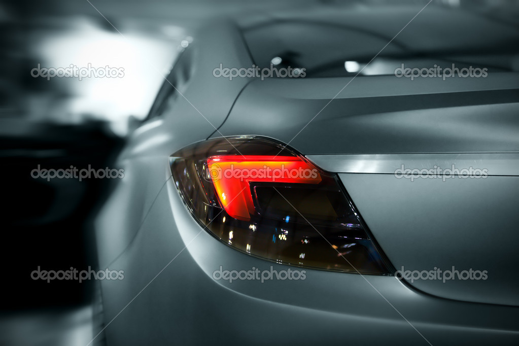 Abstract car lights with motion effect, toned — Stock Photo #6814214