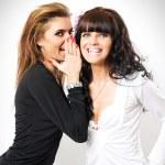 Girls have secrets — Stock Photo