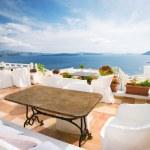 Santorini cafe — Stock Photo