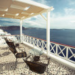 Cafe with a view, Santorini, Greece — Stock Photo