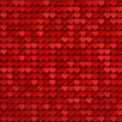 Red hearts pattern — ストック写真