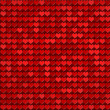 Red hearts pattern - Stock Photo