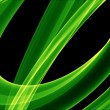 Stock Photo: Glowing green curves