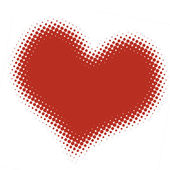 ハーフトーンの心 — ストック写真