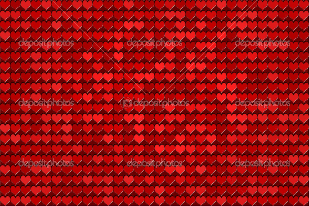 Red hearts - tiled pattern — Stock Photo #6959159