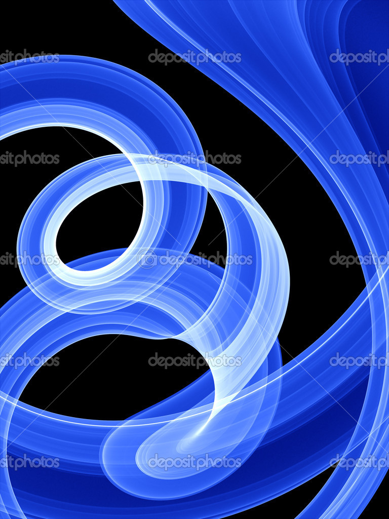 Neon twirls over black background - high quality render — Stock Photo #6959352