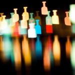 Bokeh series - bottles — Stock Photo