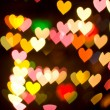 Bokeh series - hearts — Stock Photo