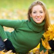 Young woman in the park — Stock Photo #6960503