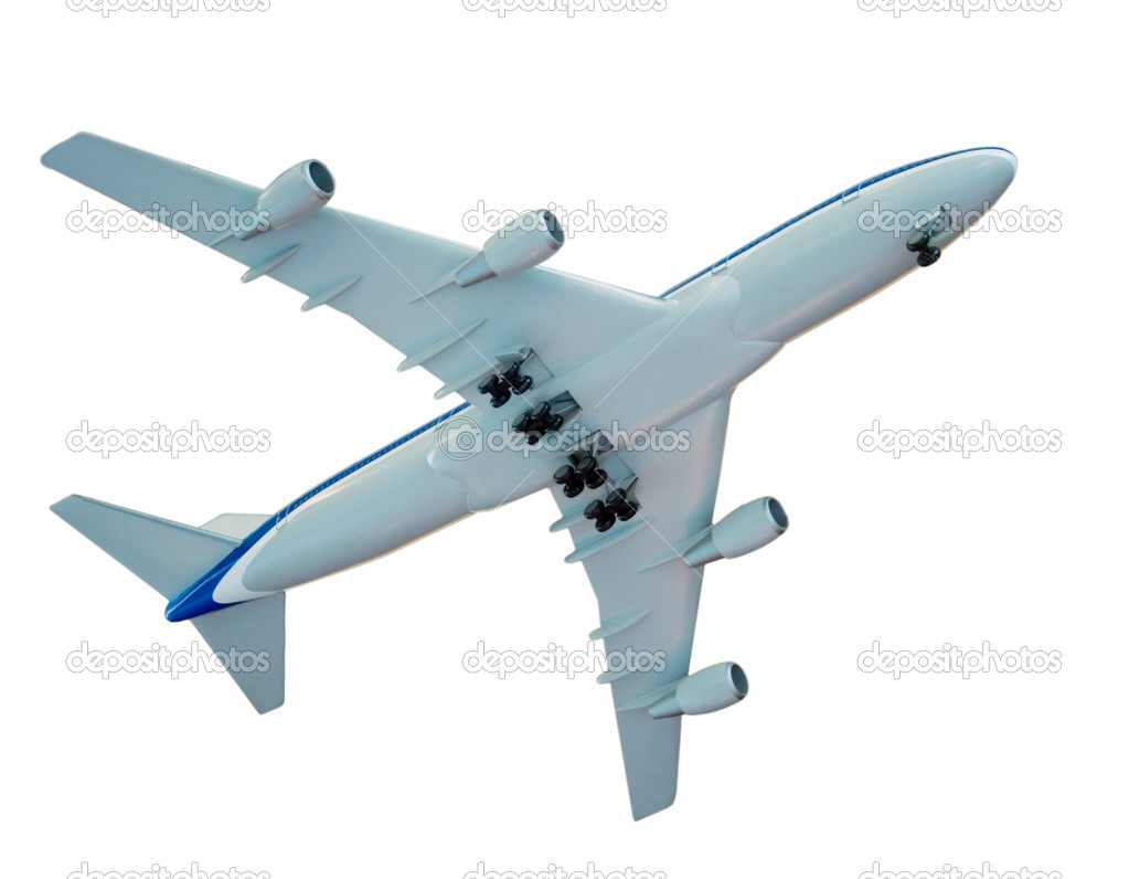 Take off of the aircraft, isolated on white  Stock Photo #6961099