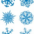 Snowflakes set 03 — Stock Vector