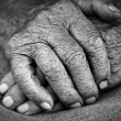 Old woman hands — Stock Photo #7085716