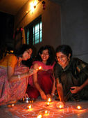 Traditional Diwali Women — Stockfoto