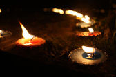 Diwali Candles — 图库照片