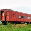 Stock Photo: Old forgotten railcar
