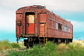 Old passenger railcar — Stock Photo