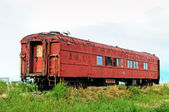 Old forgotten railcar — Stock Photo