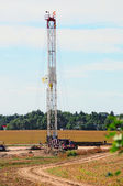 Service rig for a gas well — Stock Photo