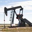 Pump jack in south central Colorado, USA - Stock Photo