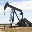 Raised pump jack in Colorado, USA - Stock Photo