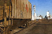 Rusty old railcar on a siding — Stock Photo