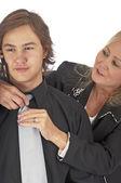 Kravat sabitleme — Stok fotoğraf