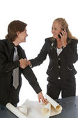 Woman Makes a Corporate Agreement — Stock Photo