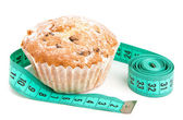 Muffin di dieta con centimiter — Foto Stock