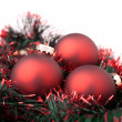 Red Christmas balls — Stock Photo #7686958