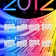 Colorful 2012 Calendar on Black Background. Rainbow Colors — Stock Vector #7393420
