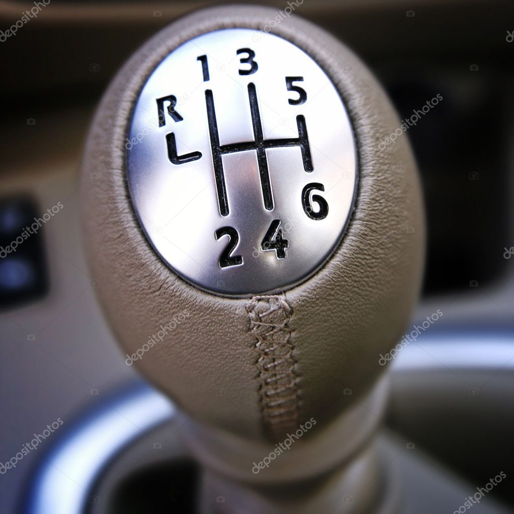 Close-up of a car gear lever. — Stock Photo #6845516
