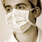 Portrait of a young doctor. — Stock Photo