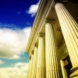 Greek pillars - Stock Photo