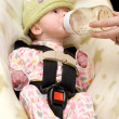 Stock Photo: Newborn Being Bottle Fed