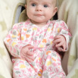 Happy Baby on Back — Stockfoto