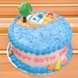 Happy Birthday Beach Cake — Stock Photo