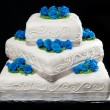 Three-Tier Wedding Cake — Stock Photo