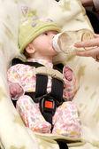 Newborn Being Bottle Fed — Stock Photo