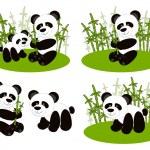 Panda cute set — Stock Vector #7009250